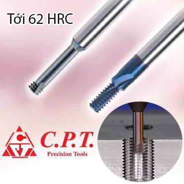 Dao phay ren thép cứng tới 62HRC C.P.T
