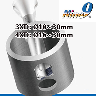 Mũi khoan gắn mảnh hợp kim 4 lưỡi cắt 3D,4D Nine9