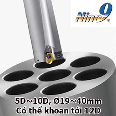 Mũi khoan sâu gắn mảnh hợp kim 5D, 10D, 12D Nine9